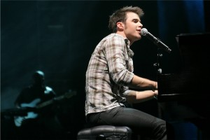 Kris Allen performs during the American Idol Tour