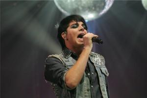 Adam Lambert performs at American Idol Tour