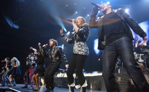 Contestants from American Idol perform in Salt Lake City. (AP photo)