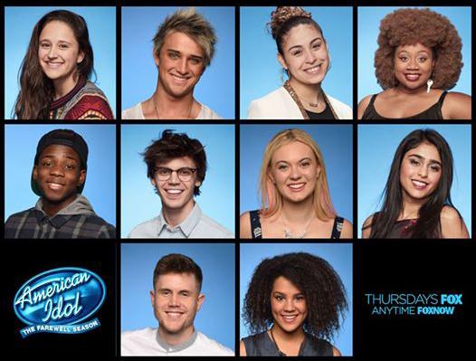 American Idol's top 10